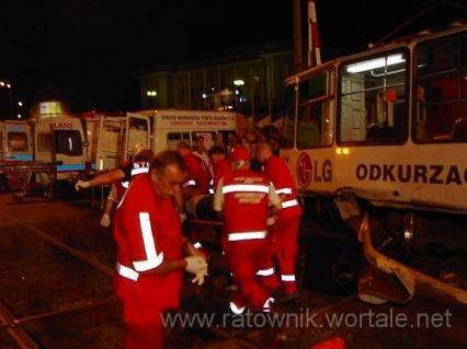Wypadek tramwaju i samochodu osobowego - Gdańsk